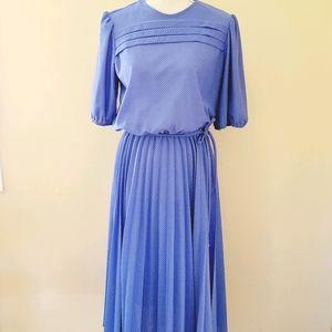 Vintage Laurel Ridge polka dot dress size 15/16